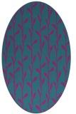 rug #231081 | oval pink natural rug