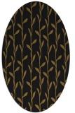 rug #231133 | oval black natural rug