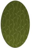 rug #231141 | oval green popular rug