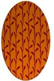 rug #231205 | oval orange natural rug