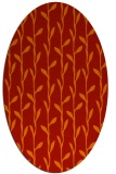 rug #231261 | oval orange natural rug