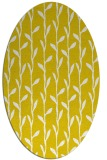 rug #231317 | oval yellow natural rug