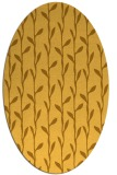 rug #231321 | oval yellow natural rug
