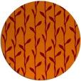 rug #231909   round red-orange natural rug