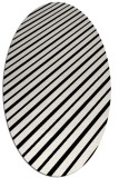 rug #232781 | oval white stripes rug