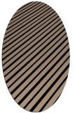rug #232789   oval beige stripes rug