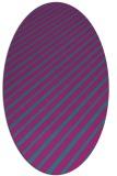 rug #232841 | oval pink rug