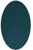 rug #232857 | oval blue rug