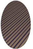 rug #232885 | oval blue-violet rug
