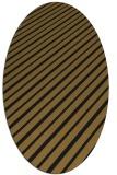 rug #232893 | oval mid-brown stripes rug