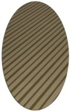 rug #232897 | oval mid-brown retro rug