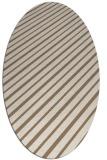 rug #232929 | oval mid-brown retro rug