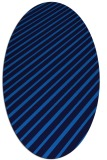 rug #232945 | oval blue retro rug