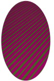 rug #232950 | oval stripes rug