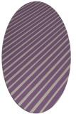 rug #232957   oval purple retro rug