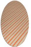 rug #232973 | oval orange retro rug