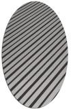 rug #232977 | oval orange stripes rug