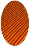 rug #233021 | oval orange retro rug