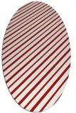 rug #233025 | oval red popular rug