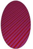 rug #233029 | oval pink retro rug