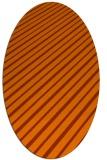 rug #233033 | oval red-orange retro rug