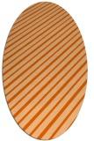 rug #233037   oval red-orange stripes rug