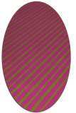 rug #233105 | oval pink rug