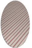 rug #233117 | oval pink retro rug