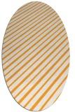 rug #233125 | oval light-orange retro rug