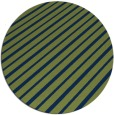 rug #233517 | round green stripes rug