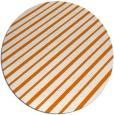 rug #233673 | round orange stripes rug