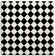 rug #234189 | square white check rug