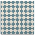 rug #234209 | square white check rug