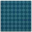rug #234233 | square blue-green check rug