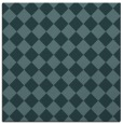 rug #234257   square blue-green check rug