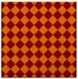 rug #234373 | square orange check rug