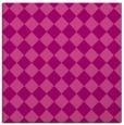 rug #234393   square pink check rug