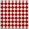 rug #234425 | square red retro rug
