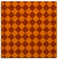rug #234441 | square red-orange check rug