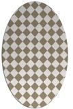 rug #234537 | oval white check rug