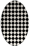 rug #234541 | oval white check rug