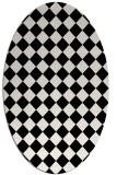 rug #234541 | oval white retro rug
