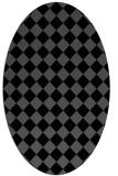 rug #234546   oval check rug