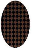 rug #234553   oval brown retro rug