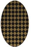 rug #234557 | oval brown retro rug