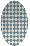 rug #234561 | oval white check rug