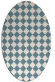 rug #234562 | oval check rug