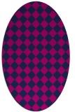 rug #234565 | oval blue check rug