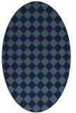 rug #234569 | oval blue check rug