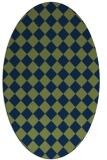 rug #234574 | oval check rug